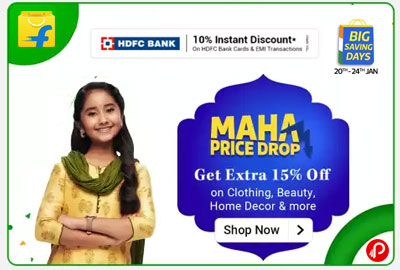 Maha Price Drop on Clothing, Beauty, Home Decor - Flipkart