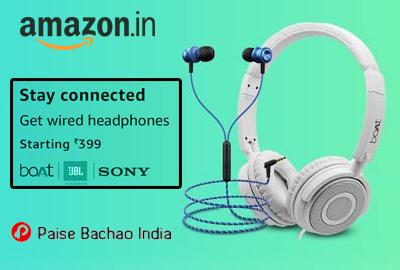 Wired Headphones Starting 399 - Amazon India