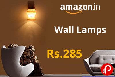 Wall Lamps @ 285 - Amazon India