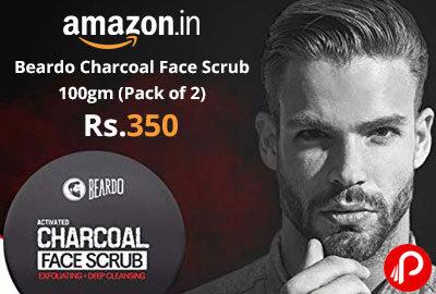 Beardo Charcoal Face Scrub 100gm (Pack of 2) - Amazon India