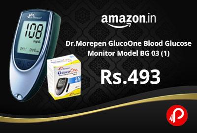 Dr.Morepen GlucoOne Blood Glucose Monitor Model BG 03 (1) @ 493 - Amazon India