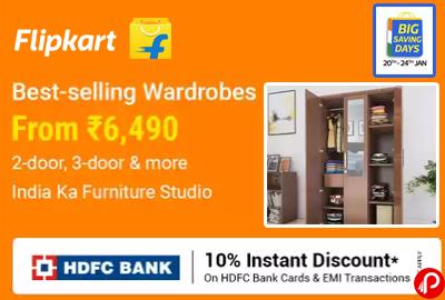 Wardrobes From 6490   Furniture Bestsellers - Flipkart