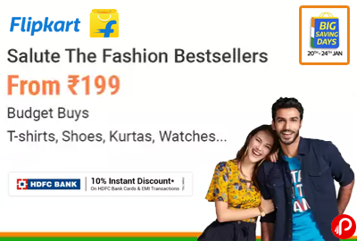 Fashion From ₹199 | T-Shirt, Shoes, Watches - Flipkart