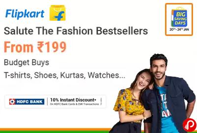 Fashion From ₹199 | T-Shirt, Shoes, Watches - Flipkart
