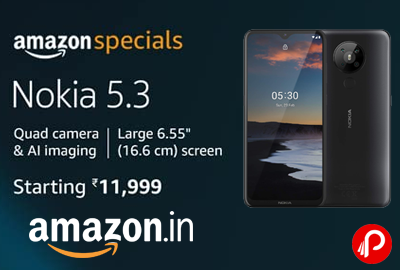 Nokia 5.3 Android One Smartphone @ 11,999 - Amazon India
