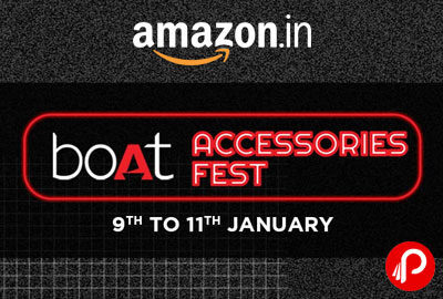 boAt Accessories Fest 9 To 11 January - Amazon India