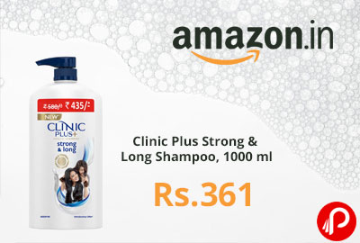 Clinic Plus Strong & Long Shampoo, 1000 ml @ 361 - Amazon India