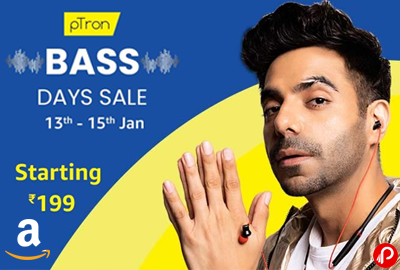 "BASS DAYS SALE 13"" - 15"" Jan - pTron Days - Amazon India"