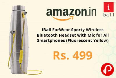 iBall EarWear Bluetooth Headset with Mic @ 499 - Amazon India
