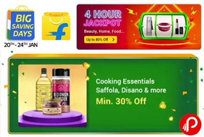 Cooking Essentials Saffola, Disano @ Min. 30% Off - Flipkart Jackpot Deal