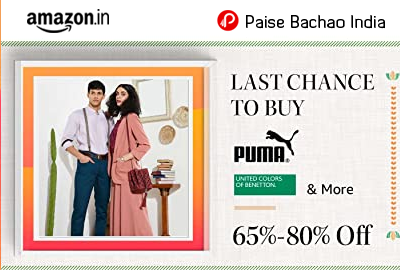 Last chance to buy! 65% - 80% off - Clothing, footwear & more - Amazon India