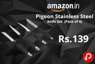 Pigeon Stainless Steel Knife Set (Pack of 4) - Flipkart