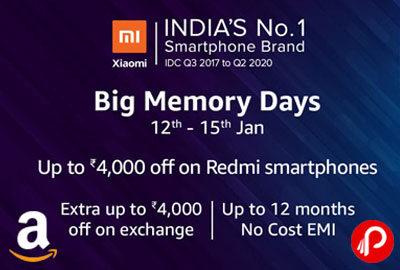 "Big Memory Days 12'"" - 15"" Jan - Amazon India"