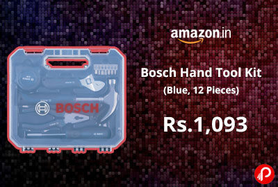 Bosch Hand Tool Kit (Blue, 12 Pieces) @ 1,093 - Amazon India