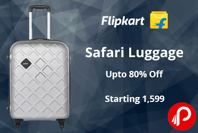 Upto 80% Off On Safari Luggage - Flipkart