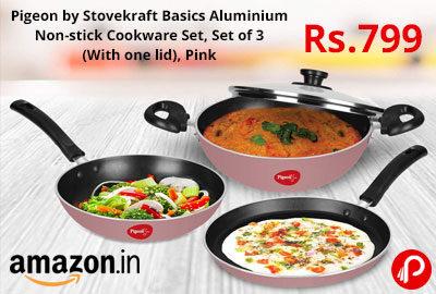 Pigeon by Stovekraft Basics Aluminium Non-stick Cookware Set @ 799 - Amazon India