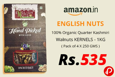 ENGLISH NUTS 100% Organic Quarter Kashmiri Walnuts KERNELS - 1KG @ 535 - Amazon India