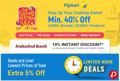 The Grand Kitchen Sale is Live!   16 - 19 Feb - Flipkart