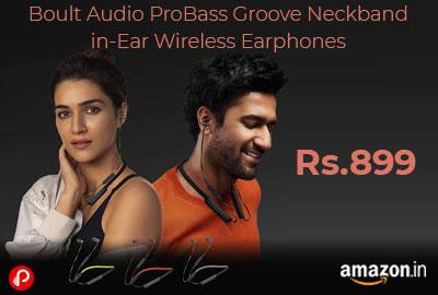 Boult Audio ProBass Groove Neckband @ 899 - Amazon India