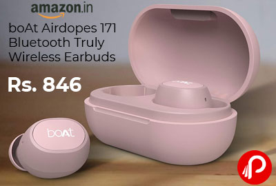 (Renewed) boAt Airdopes 171 Bluetooth Truly Wireless Earbuds @ 846 - Amazon India