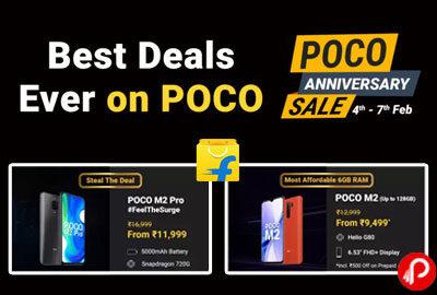 Poco Anniversary Sale - 7th February 2021 - Flipkart