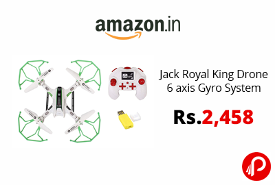Jack Royal King Drone 6 axis Gyro System @ 2,458 - Amazon India
