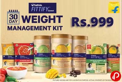 Saffola Fittify Gourmet 30 Day Weight Management Kit @ 999 - Flipkart