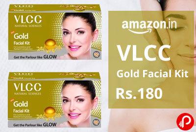 VLCC Gold Facial Kit @ 180 - Flipkart