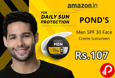 POND'S SPF 30 Face Creme Sunscreen @ 107 - Amazon India