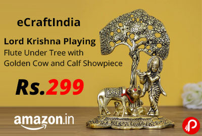 eCraftIndia Lord Krishna Playing Flute Showpiece @ 299 - Amazon India