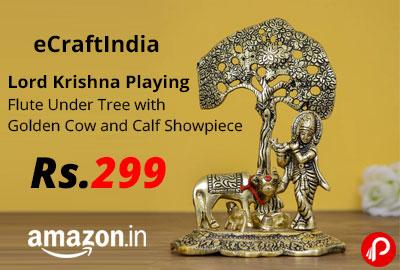 eCraftIndia Lord Krishna Playing Flute Showpiece @ 299 - Amazon India