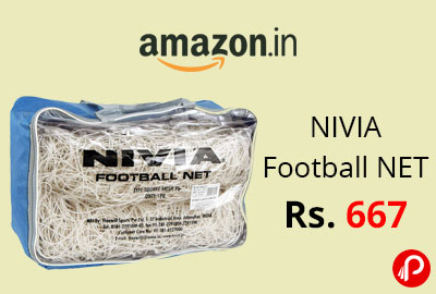 NIVIA Football NET 7.32X2.44M @ 667 - Amazon India