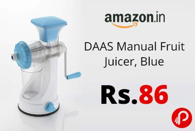DAAS Manual Fruit Juicer, Blue @ 86 - Amazon India