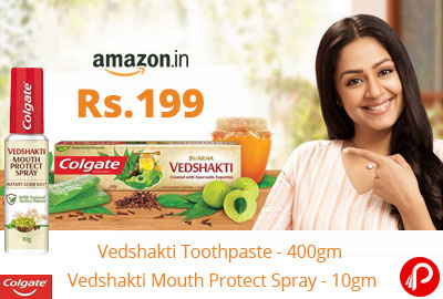 Colgate Vedshakti Combo (Toothpaste + Mouth Protect Spray) @ 199 - Amazon India