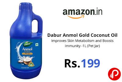 Dabur Anmol Gold 100% Pure Coconut Oil @ 199 - Amazon india