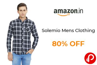 Solemio Mens Clothing | 80% Off - Amazon India