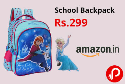 School Backpack Blue (MBE-WDP1453) @ 299 - Amazon India