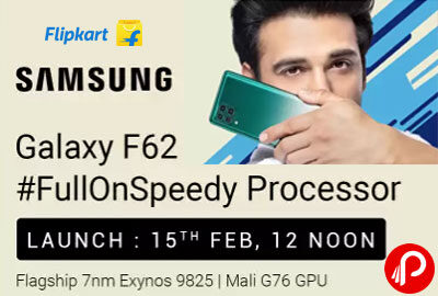 Samsung Galaxy F62 | #FullOnSpeedy Processor | Launch 15 FEB, 2021 - Flipkart