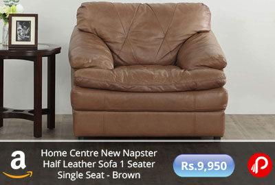 Home Centre New Napster Half Leather Sofa @ 9,950 - Amazon India