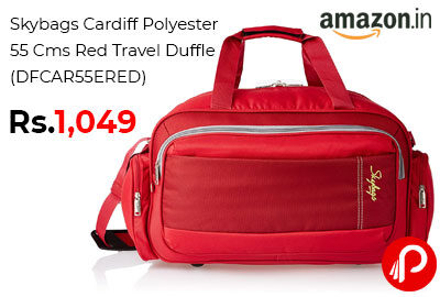 Skybags Cardiff Polyester 55 Cms Red Travel Duffle @ 1049 - Amazon India