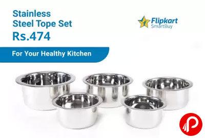 Flipkart SmartBuy Patila Tope Set (Stainless Steel) @ 474 - Flipkart