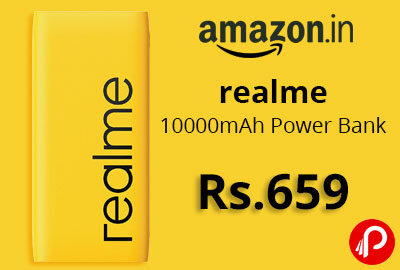 realme 10000mAh Power Bank 2i @ 659 - Amazon India