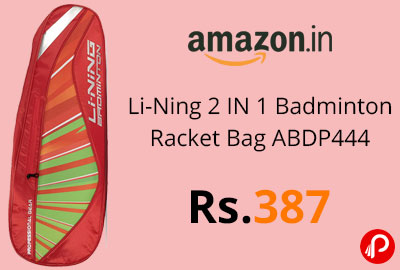 Li-Ning 2 IN 1 Badminton Racket Bag ABDP444 @ 387 - Amazon India