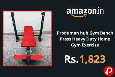 Produman hub Gym Bench Press Heavy Duty Home Gym Exercise @ 1,823 - Amazon India