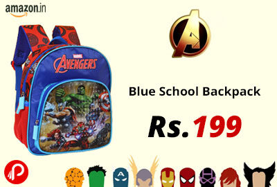 Avengers Blue School Backpack @ 199 - Amazon India