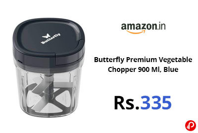 Butterfly Premium Vegetable Chopper 900 Ml @ 335 - Amazon India
