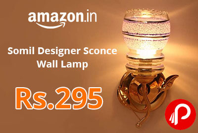 Somil Designer Sconce Wall Lamp @ 295 - Amazon India