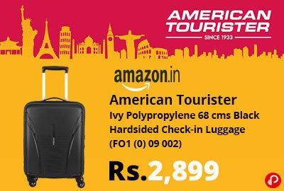 American Tourister 68 cms Black Luggage @ 2,899 - Amazon India