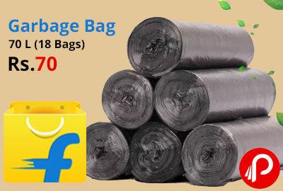 Garbage Bag 70 L (18 Bags) @ 70 - Flipkart