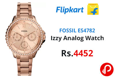 FOSSIL ES4782 Izzy Analog Watch - For Women @ 4,452 - Flipkart